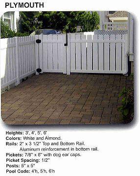 Vinyl Semi Privacy Fence